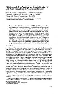 Mitochondrial DNA Variation and Genetic Structure ... - Semantic Scholar