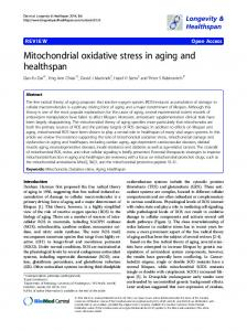 Mitochondrial oxidative stress in aging and