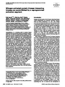 Mitogen-activated protein kinases interacting kinases are ...