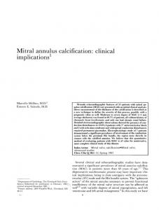 Mitral annulus calcification: clinical implications1
