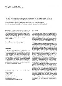 Mitral valve echocardiographic pattern within ... - Wiley Online Library