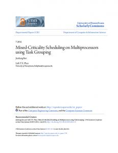Mixed-Criticality Scheduling on Multiprocessors ... - ScholarlyCommons