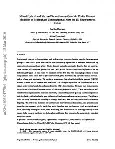 Mixed-Hybrid and Vertex-Discontinuous-Galerkin Finite Element ...