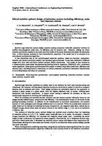 Mixed-variable optimal design of induction motors including ... - Eomys
