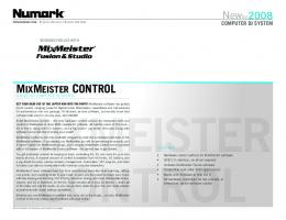 MixMeister Control - Product Overview