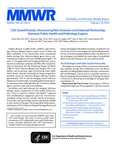 MMWR - Centers for Disease Control and Prevention