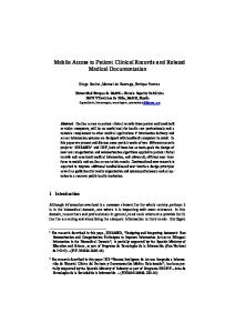 Mobile Access to Patient Clinical Records and Related Medical
