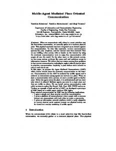 Mobile-Agent Mediated Place Oriented ... - Semantic Scholar