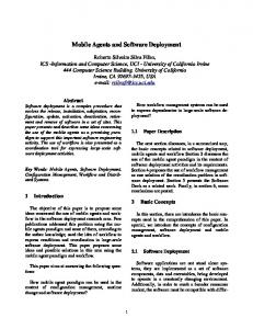 Mobile Agents and Software Deployment - Semantic Scholar