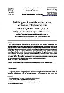 Mobile agents for mobile tourists: a user evaluation of ... - CiteSeerX