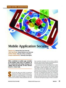 Mobile Application Security - IEEE Xplore