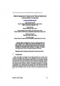 Mobile Assessment Procedures for Mental Health and
