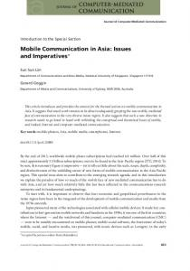 Mobile Communication in Asia: Issues and ... - Wiley Online Library