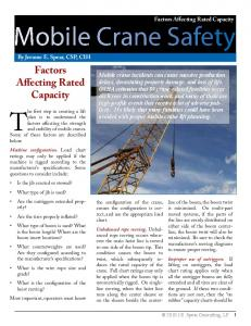 Mobile Crane Safety: Factors Affecting Rated Capacity