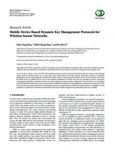 Mobile Device Based Dynamic Key Management Protocols for ...
