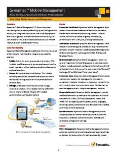 Mobile Device Management for iOS, Android, and Windows Phone ...