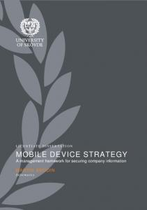 Mobile Device Strategy - Diva-portal
