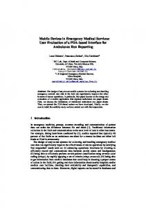 Mobile Devices in Emergency Medical Services ... - Semantic Scholar