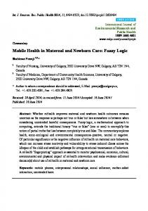 Mobile Health in Maternal and Newborn Care