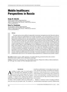 Mobile healthcare: Perspectives in Russia