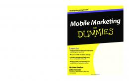 Mobile Marketing For Dummies pdf - WordPress.com