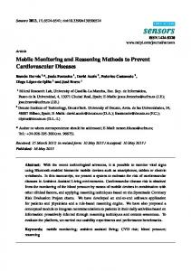 Mobile Monitoring and Reasoning Methods to Prevent ... - MDPI