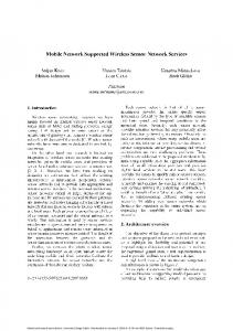 Mobile Network Supported Wireless Sensor Network Services