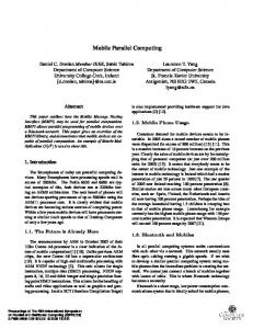 Mobile Parallel Computing - IEEE Xplore