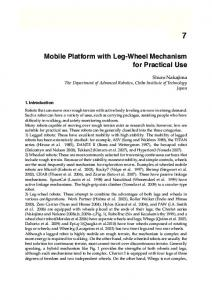 Mobile Platform with Leg-Wheel Mechanism for ... - Semantic Scholar