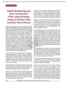Mobile Radiofrequency Does Not Interfere With ...