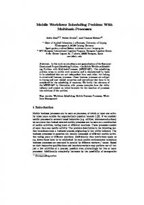 Mobile Workforce Scheduling Problem With ... - Semantic Scholar