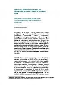 mobility and discourse circulation in the