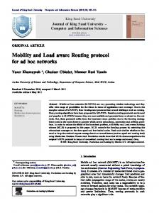 Mobility and Load aware Routing protocol for ad hoc