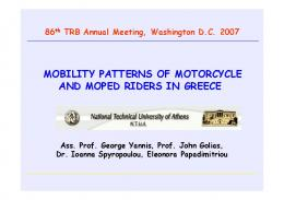 mobility patterns of motorcycle and moped riders in greece - NRSO