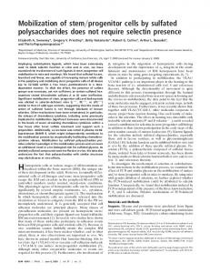 Mobilization of stem progenitor cells by sulfated ... - Semantic Scholar