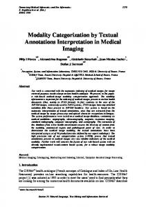 Modality Categorization by Textual Annotations ... - magic-5