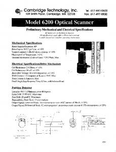 Model 6200 Optical Scanner