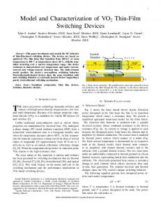Model and Characterization of VO2 Thin-Film ...
