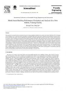 Model-based Building Performance Evaluation and ... - Science Direct