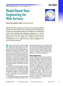 Model-Based Data Engineering for Web Services - IEEE Xplore