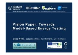 Model-Based Energy Testing (MBET) - TU Dresden