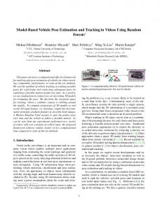 Model-Based Vehicle Pose Estimation and Tracking in Videos Using ...