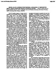 Model Calculations of the Proximal and Globally Distributed Distal ...