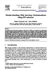 Model-checking Web Services Orchestrations ... - Semantic Scholar