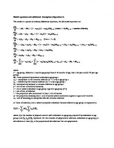 Model equations and additional description [Equations 1] The ... - PLOS