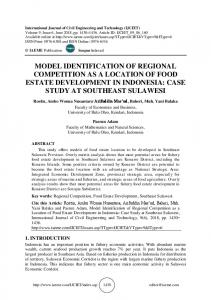 model identification of regional competition as a