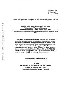 Model Independent Analysis of the Proton Magnetic Radius