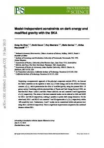 Model-independent constraints on dark energy and modified gravity ...