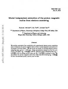 Model independent extraction of the proton magnetic radius from ...