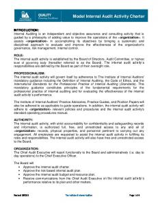 model internal audit activity charter - Global IIA - The Institute of ...